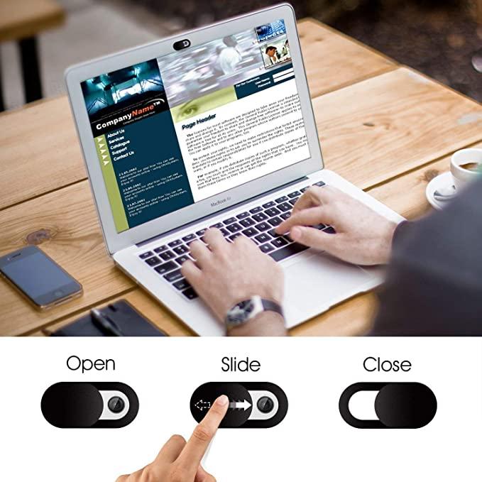 Elimoons Webcam Cover Slide, Ultra Delgada Cubierta de la Cámara del Portátil