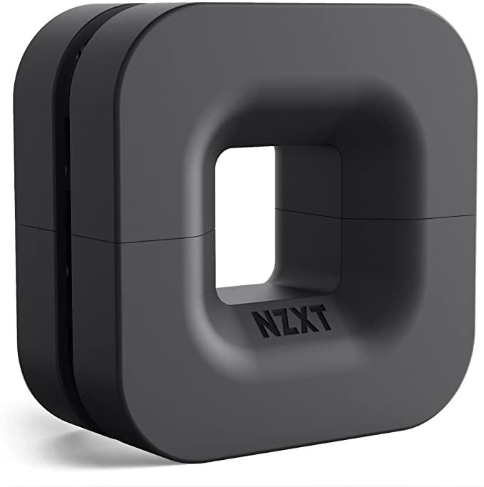 NZXT Puck - Solución de gestión de cables y montaje de auriculares, Negro