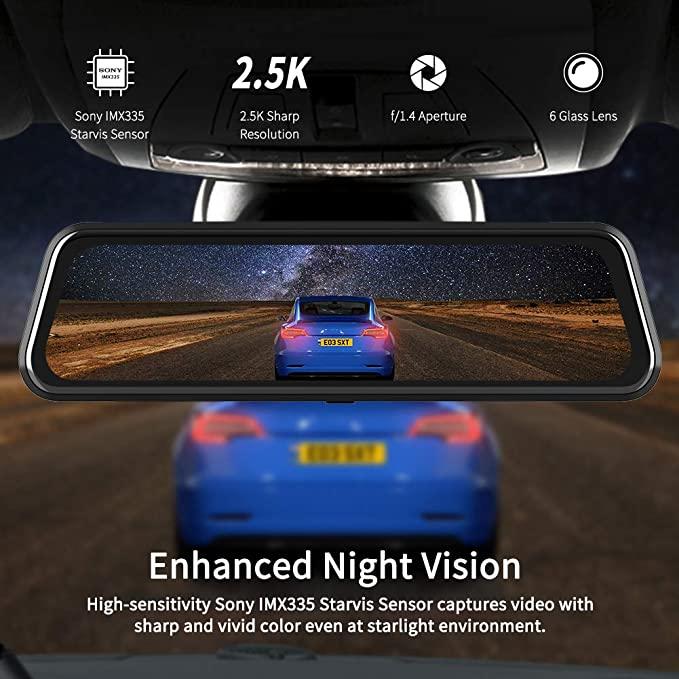 los 7 accesorios para autos novedosos 2020: van top pantalla retrovisor para autos