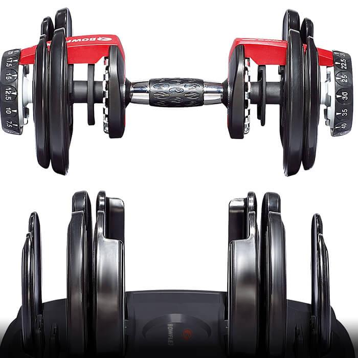 7 Geniales accesorios para hacer ejercicio en casa Pesas ajustables Bowflex