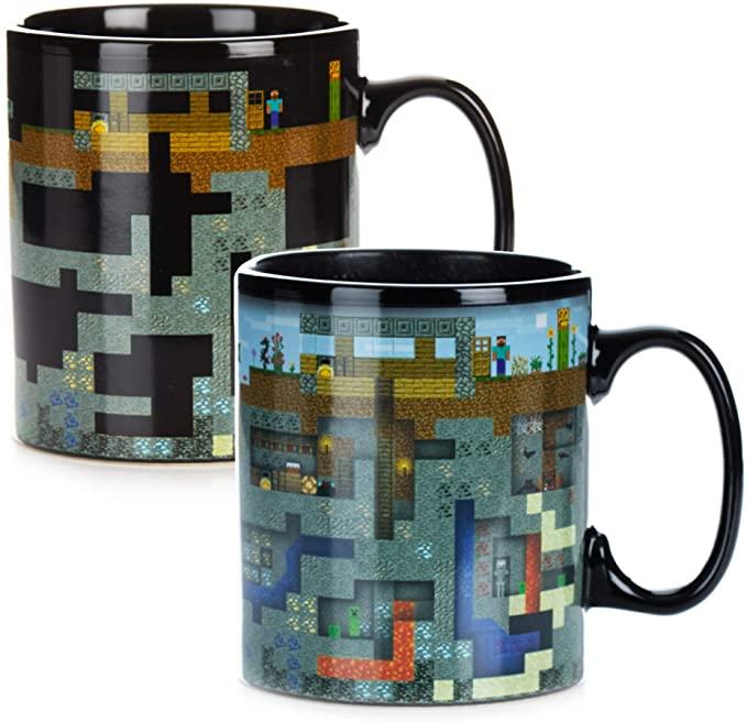 Taza con cambio de color sensible al calor – Minecraft
