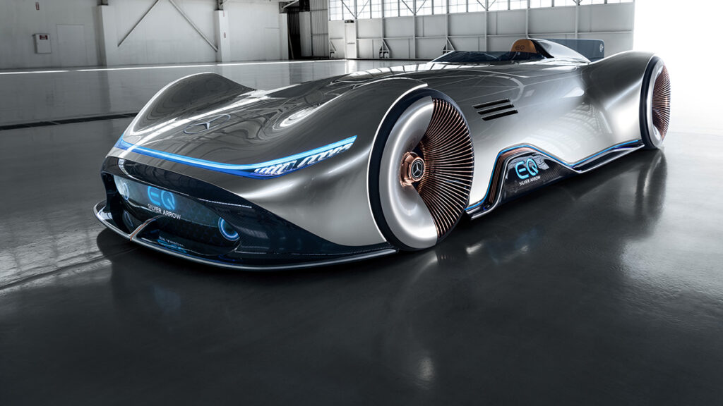 Autos mas lujosos: Mercedes Vision Eq Silver Arrow